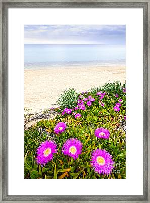 Aegean Sea Coast In Greece Framed Print