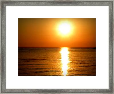 Framed Print featuring the photograph Aegean Sunset by Micki Findlay