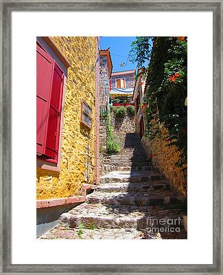 Framed Print featuring the photograph Aegean Village Idyll by Andreas Thust