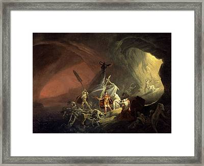 Aeneas And The Sibyl, Unknown Artist, 19th Century Framed Print
