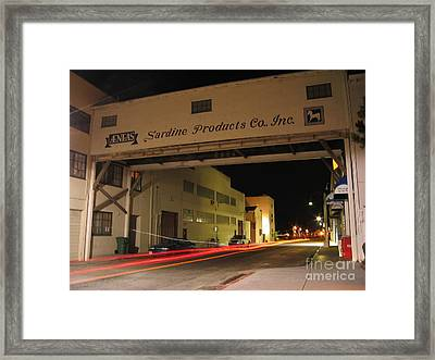 Framed Print featuring the photograph Aeneas Overpass On Cannery Row by James B Toy