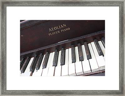 Aeolian Player Piano-3484 Framed Print by Gary Gingrich Galleries