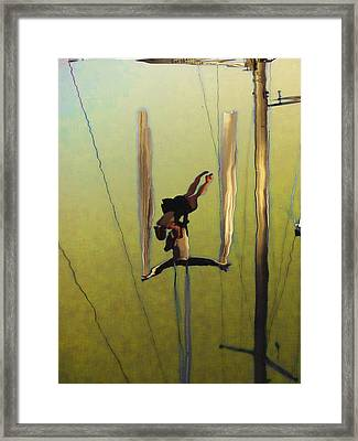 Aerial Acrobatic Artistry2  Framed Print by Anne Mott