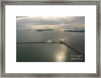Aerial Causeway Framed Print