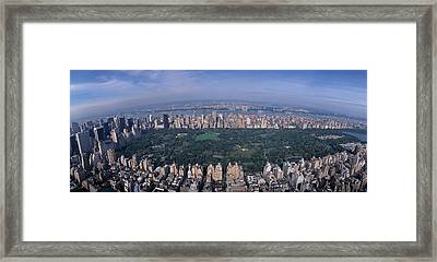 Aerial Central Park New York Ny Usa Framed Print