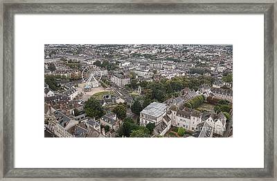 Aerial Chartres Framed Print by Olivier Le Queinec