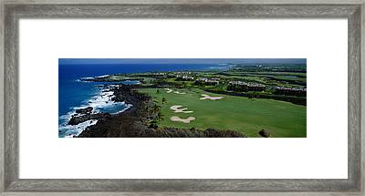 Aerial Francis H Li Brown Golf Course Framed Print by Panoramic Images