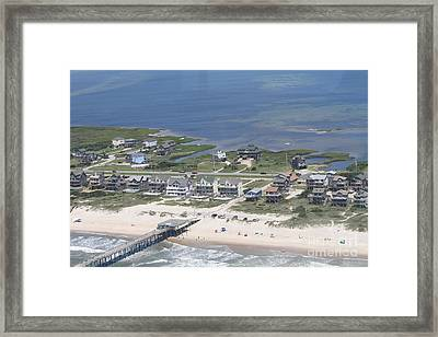 Aerial Frisco Pier 2 Framed Print by Cathy Lindsey