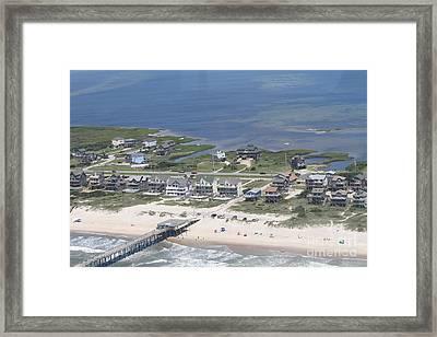 Aerial Frisco Pier 2 Framed Print