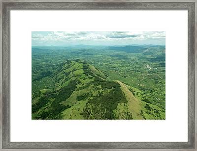 Aerial Landscape In South Western Uganda Framed Print