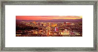Aerial Las Vegas Nv Usa Framed Print by Panoramic Images