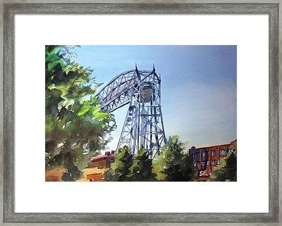 Aerial Lift Bridge Framed Print by Spencer Meagher