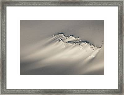 Aerial Of A Windswept Nunatak On The Framed Print by Carl Johnson
