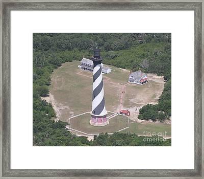 Aerial Of Hatteras Light 2  Framed Print