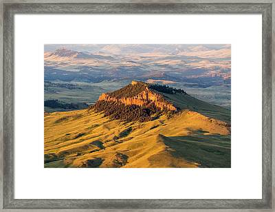 Aerial Of Lionhead Butte In Cascade Framed Print by Chuck Haney
