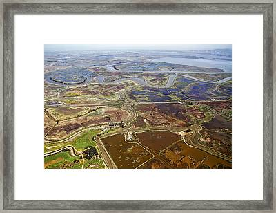 Aerial Of The California Delta Framed Print