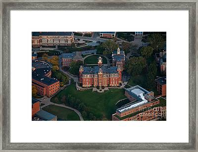 Framed Print featuring the photograph Aerial Of Woodburn Hall by Dan Friend