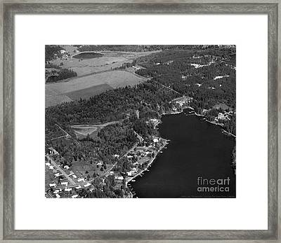 Framed Print featuring the photograph Aerial Over Hicks Lake by Merle Junk