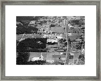 Framed Print featuring the photograph Aerial Over City Of Lacey #1 by Merle Junk