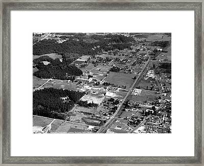Framed Print featuring the photograph Aerial Over City Of Lacey #2 by Merle Junk