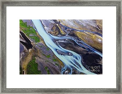 Aerial Photo Of Iceland  Framed Print