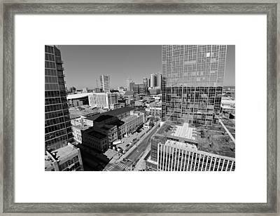 Aerial Photography Downtown Nashville Framed Print by Dan Sproul