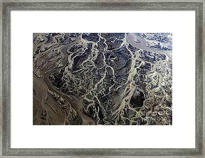 Framed Print featuring the photograph Aerial Photography by Gunnar Orn Arnason