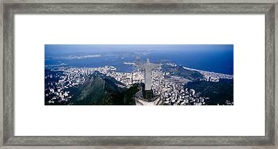 Aerial, Rio De Janeiro, Brazil Framed Print by Panoramic Images