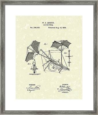 Aerial Ship 1879 Patent Art Framed Print