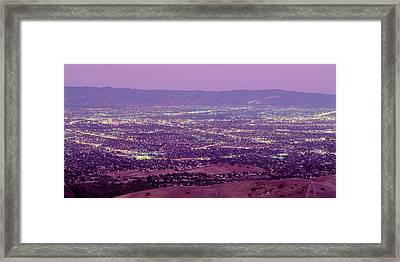Aerial Silicon Valley San Jose Framed Print