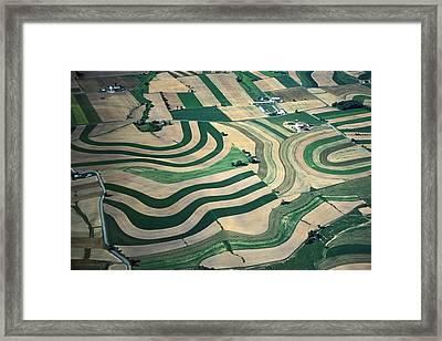 Aerial Tapestry Framed Print by Blair Seitz