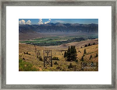 Aerial Tramway Towers Framed Print by Robert Bales