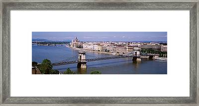 Aerial View, Bridge, Cityscape, Danube Framed Print by Panoramic Images