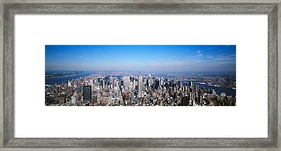 Aerial View, New York City, Nyc, New Framed Print by Panoramic Images