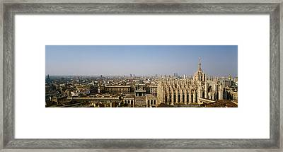 Aerial View Of A Cathedral In A City Framed Print by Panoramic Images