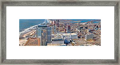 Aerial View Of A City, Atlantic City Framed Print by Panoramic Images