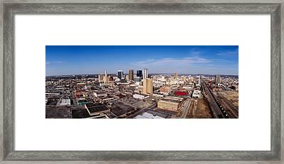 Aerial View Of A City, Birmingham Framed Print