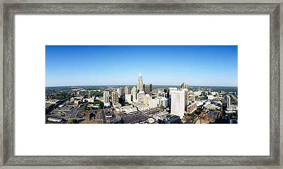 Aerial View Of A City, Charlotte Framed Print