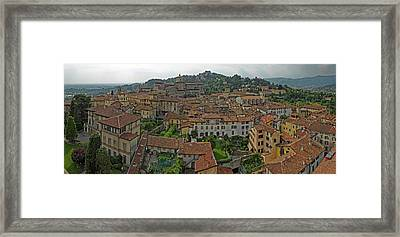Aerial View Of A City, Citta Alta Framed Print
