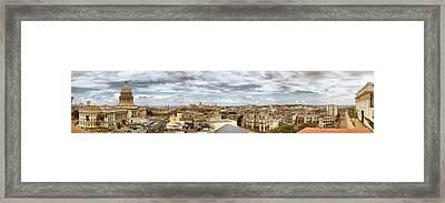 Aerial View Of A City, Havana, Cuba Framed Print