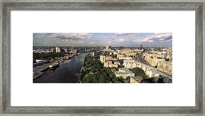 Aerial View Of A City, Moscow, Russia Framed Print by Panoramic Images