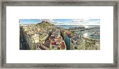 Aerial View Of A City, Old Town, Santa Framed Print by Panoramic Images