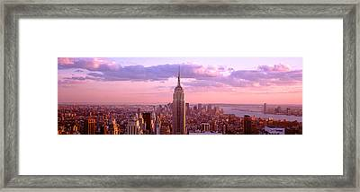 Aerial View Of A City, Rockefeller Framed Print