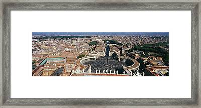 Aerial View Of A City, St. Peters Framed Print by Panoramic Images