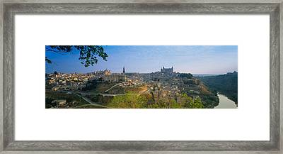 Aerial View Of A City, Toledo, Spain Framed Print by Panoramic Images