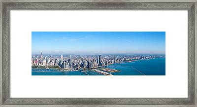 Aerial View Of A Cityscape, Trump Framed Print by Panoramic Images