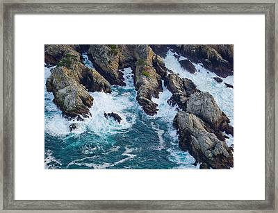 Aerial View Of A Coast, Point Lobos Framed Print by Panoramic Images