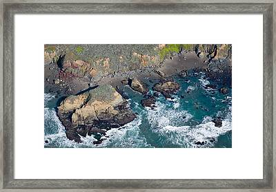 Aerial View Of A Coast, San Luis Obispo Framed Print