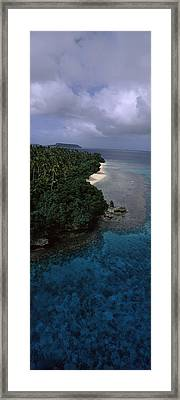 Aerial View Of A Coastline, Vavau Framed Print by Panoramic Images