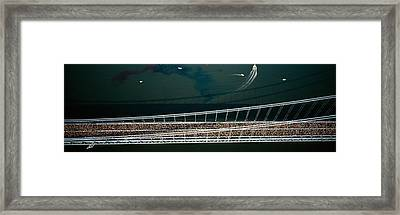 Aerial View Of A Crowd Running Framed Print